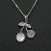 Kiraz Figürlü Zirkon Taşlı Gümüş Kolye